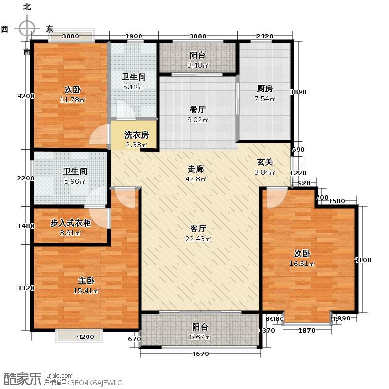 保利玫瑰湾140.00㎡C2户型3室2厅2卫