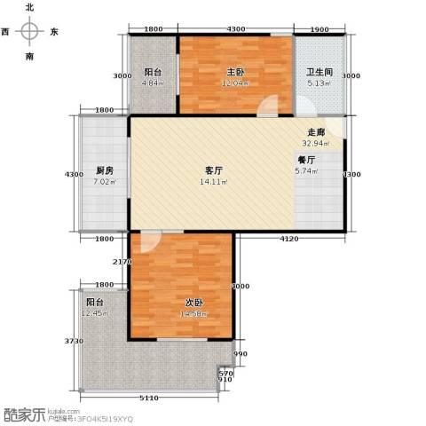 宝枫佳苑2室0厅1卫1厨112.00㎡户型图