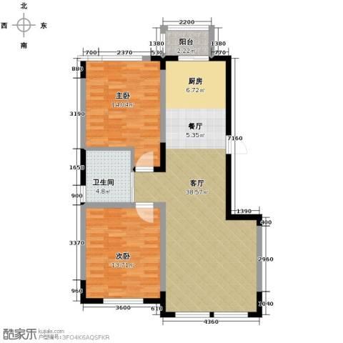 观澜湖别墅2室2厅1卫0厨104.00㎡户型图