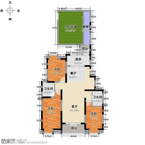 融科贻锦台3室2厅2卫0厨141.00㎡户型图