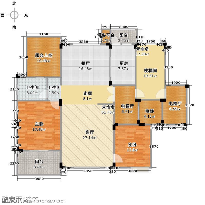 红墅湾193.50㎡L6户型4室2厅2卫