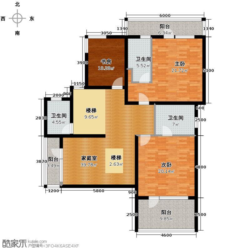富力湾・半岛别墅146.05㎡D1二层户型10室