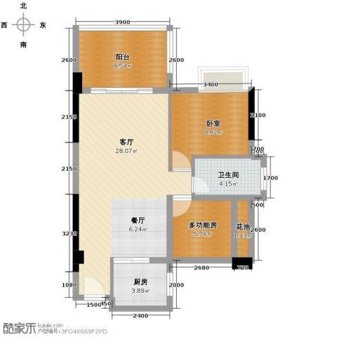 黄旗印象1厅1卫1厨87.00㎡户型图