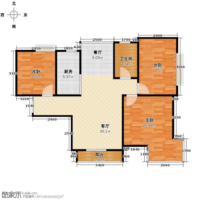 爱尚公寓85.40㎡户型10室