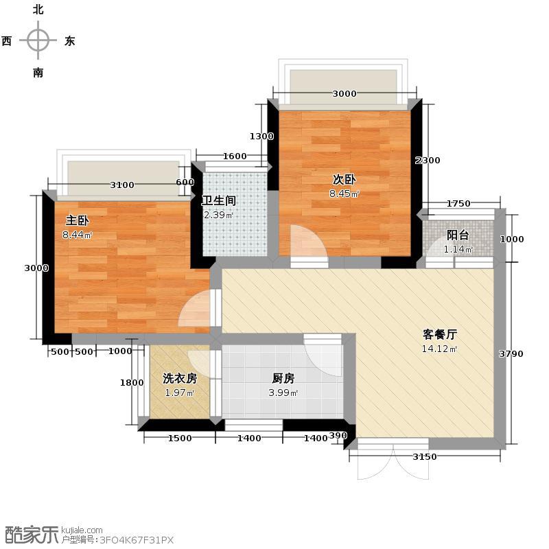 兴隆枫丹白鹭48.93㎡户型10室