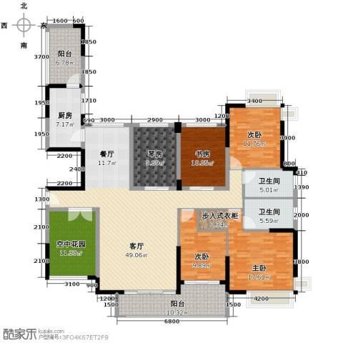 金域中央天玺4室1厅2卫1厨219.00㎡户型图