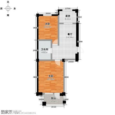 富森悠然生活2室2厅1卫0厨79.00㎡户型图
