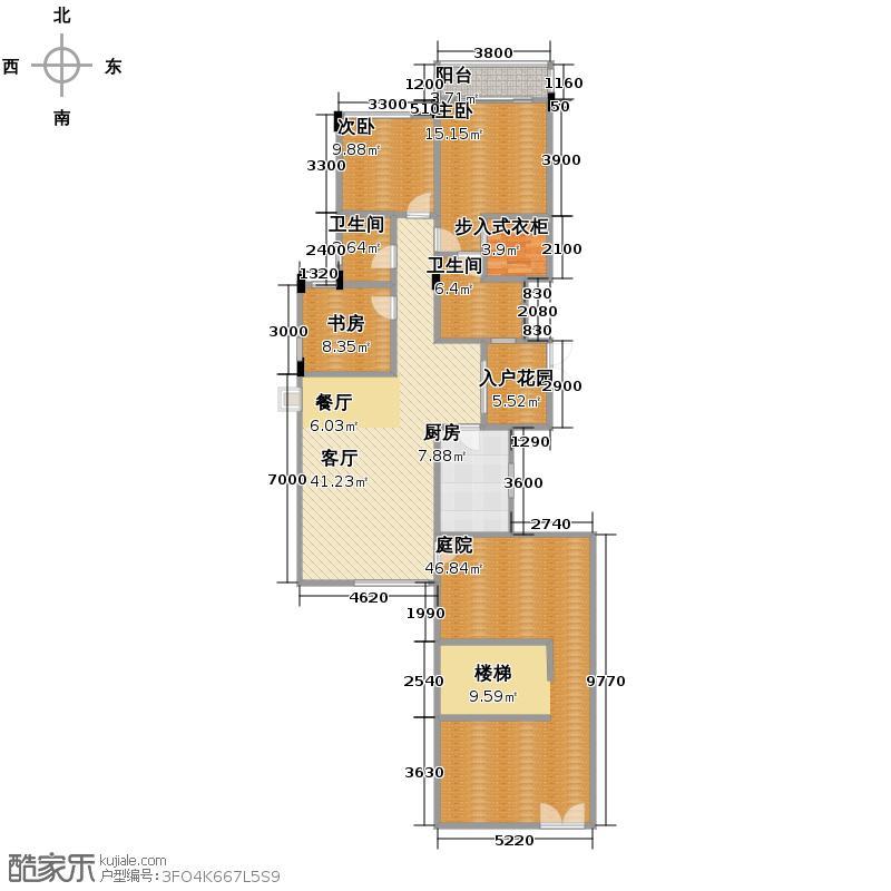 月映长滩169.30㎡L2层户型3室1厅2卫1厨