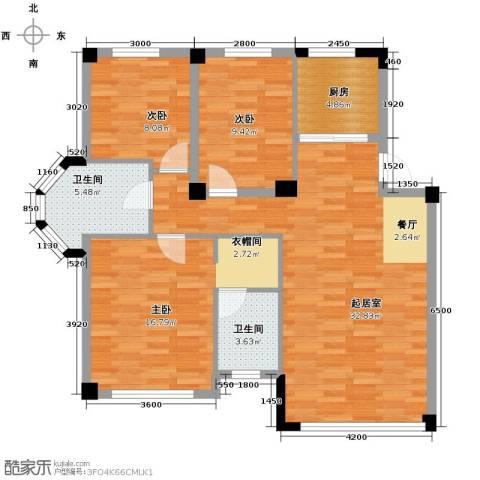 温莎小镇3室2厅2卫0厨114.00㎡户型图