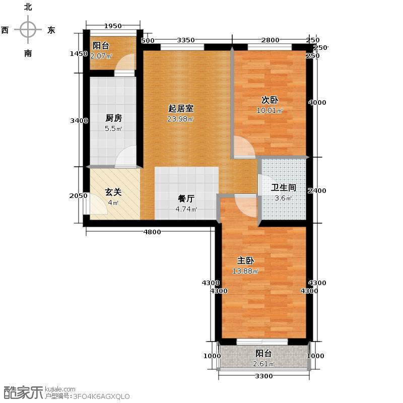 旗胜家园89.00㎡D20-1#3#D26-1#A户型10室