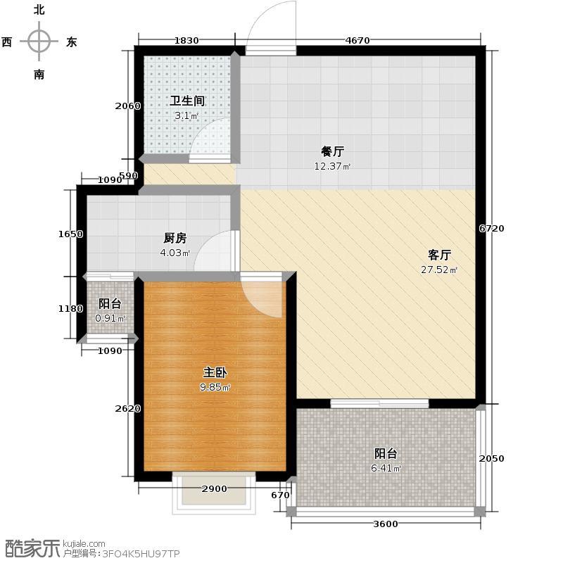 汉城湖一号68.85㎡B6d户型10室
