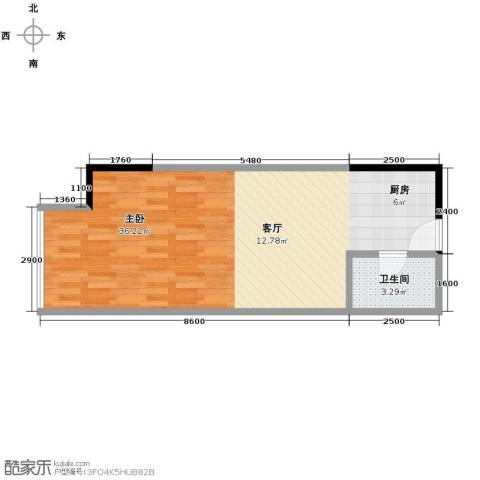 融汇新时代1室0厅1卫0厨39.51㎡户型图