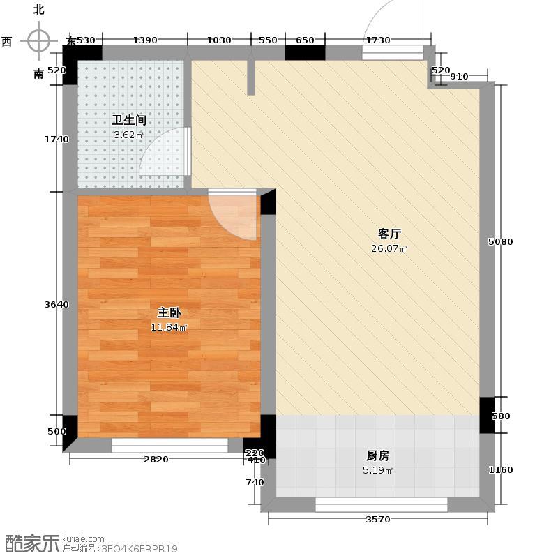 东田青年城46.43㎡户型10室