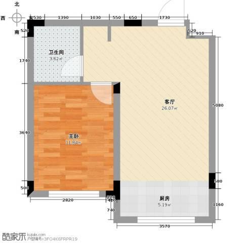 东田青年城58.00㎡户型图