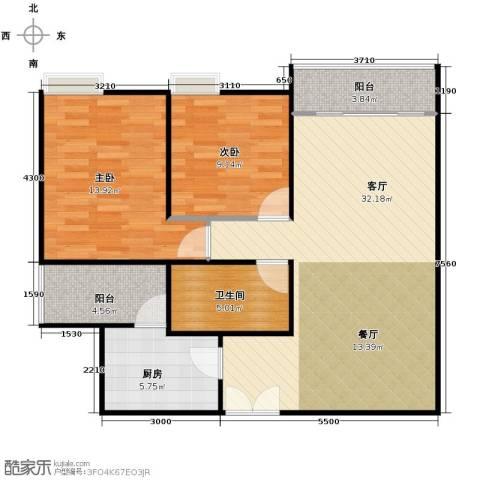 富力公园282室1厅1卫1厨100.00㎡户型图