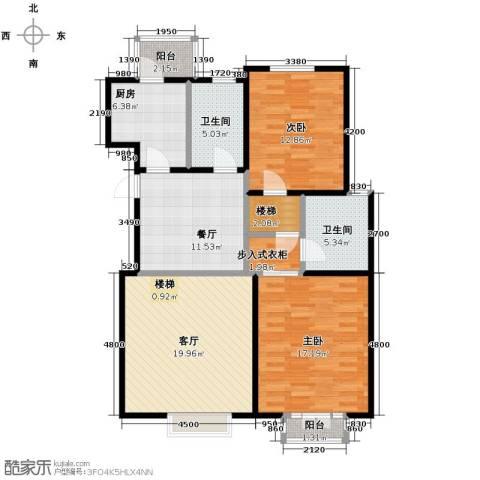 弘泽天泽2室2厅2卫0厨109.00㎡户型图