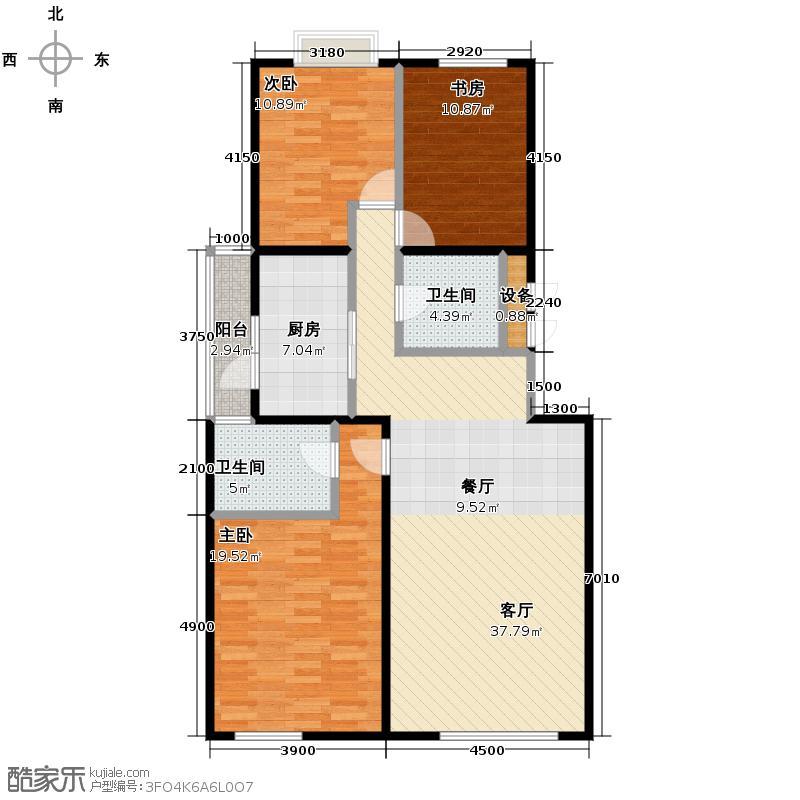玺萌公馆123.66㎡C正-02户型3室1厅2卫1厨