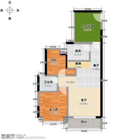 花地河湾2室0厅1卫1厨84.00㎡户型图