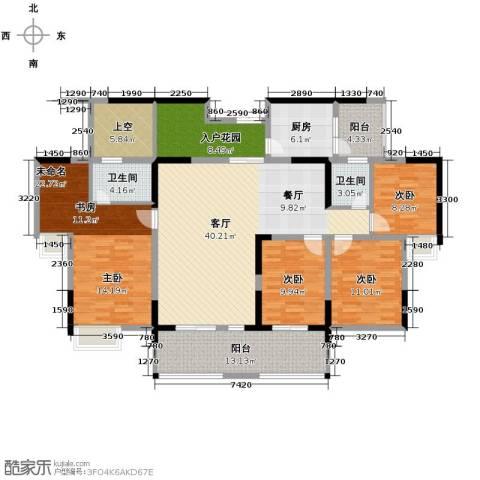 成都合院5室2厅2卫0厨161.00㎡户型图
