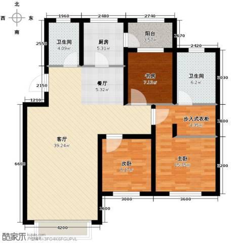 英伦小镇3室2厅2卫0厨110.00㎡户型图