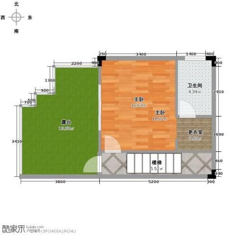 广州雅居乐花园1室0厅1卫0厨140.00㎡户型图