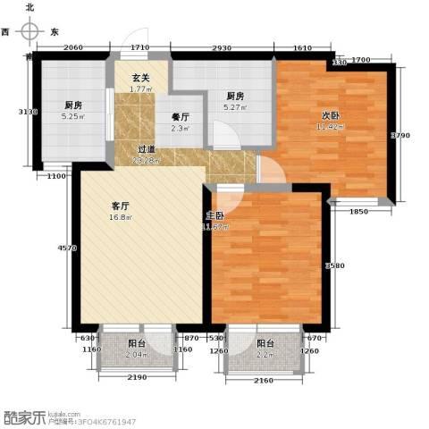 华润海中国2室2厅1卫0厨88.00㎡户型图