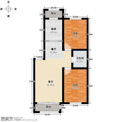 英伦小镇2室2厅1卫0厨98.00㎡户型图