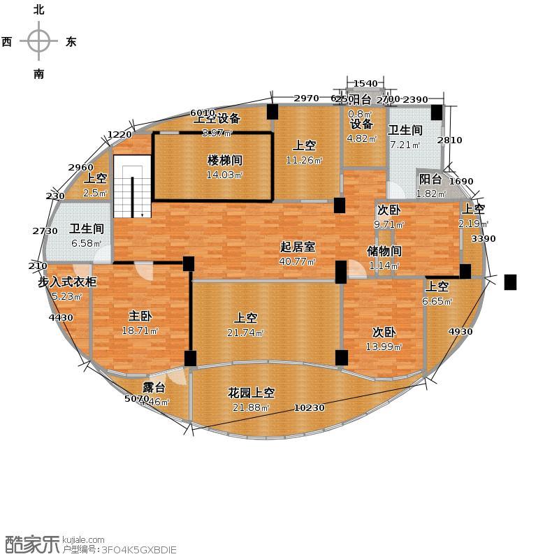 水韵尚城306.48㎡G二层平面图户型3室2卫