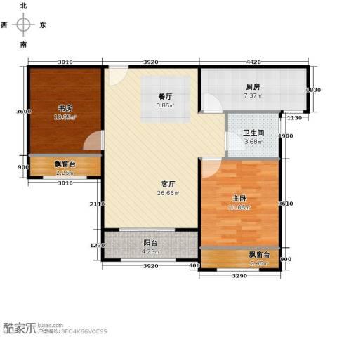 纳帕澜郡2室2厅1卫0厨90.00㎡户型图