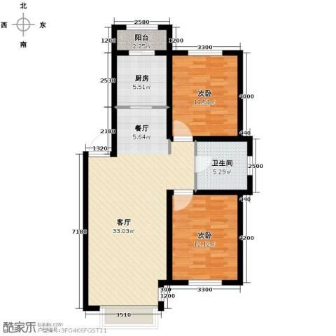 英伦小镇2室2厅1卫0厨89.00㎡户型图