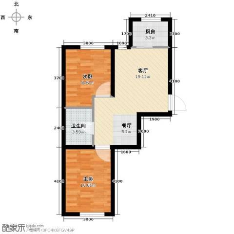 英伦小镇2室2厅1卫0厨66.00㎡户型图