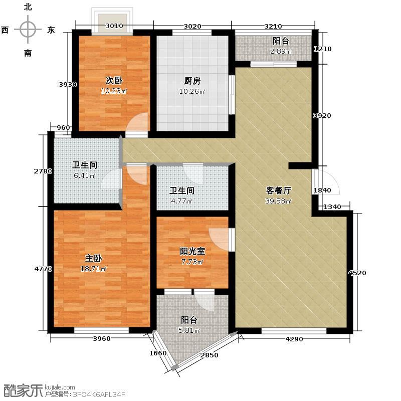 清谷121.77㎡户型10室