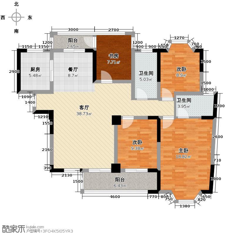 翡翠华庭148.17㎡D1-2户型10室