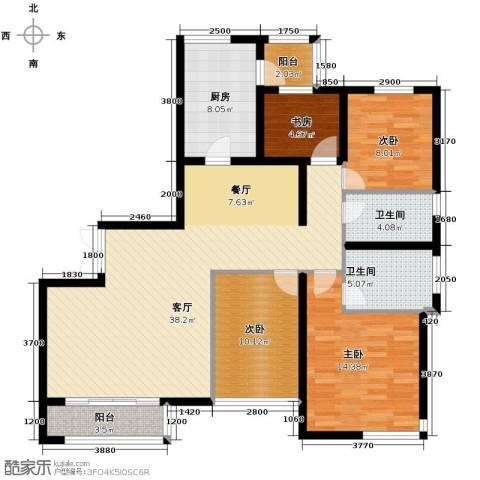 Park Tower 景杉4室2厅2卫0厨150.00㎡户型图