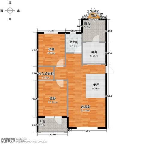 易和岭秀滨城104.00㎡户型图