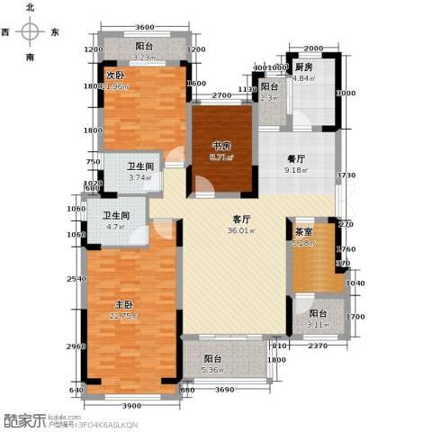 中国铁建山水时光4室2厅2卫0厨162.00㎡户型图
