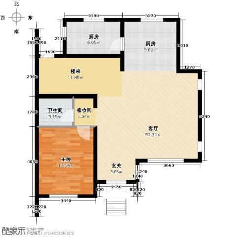 团泊湖庭院102.00㎡户型图
