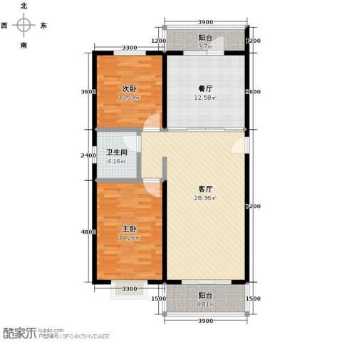 海德堡花园2室2厅1卫0厨110.00㎡户型图