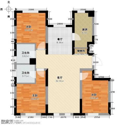 智造创想城3室2厅2卫0厨121.00㎡户型图