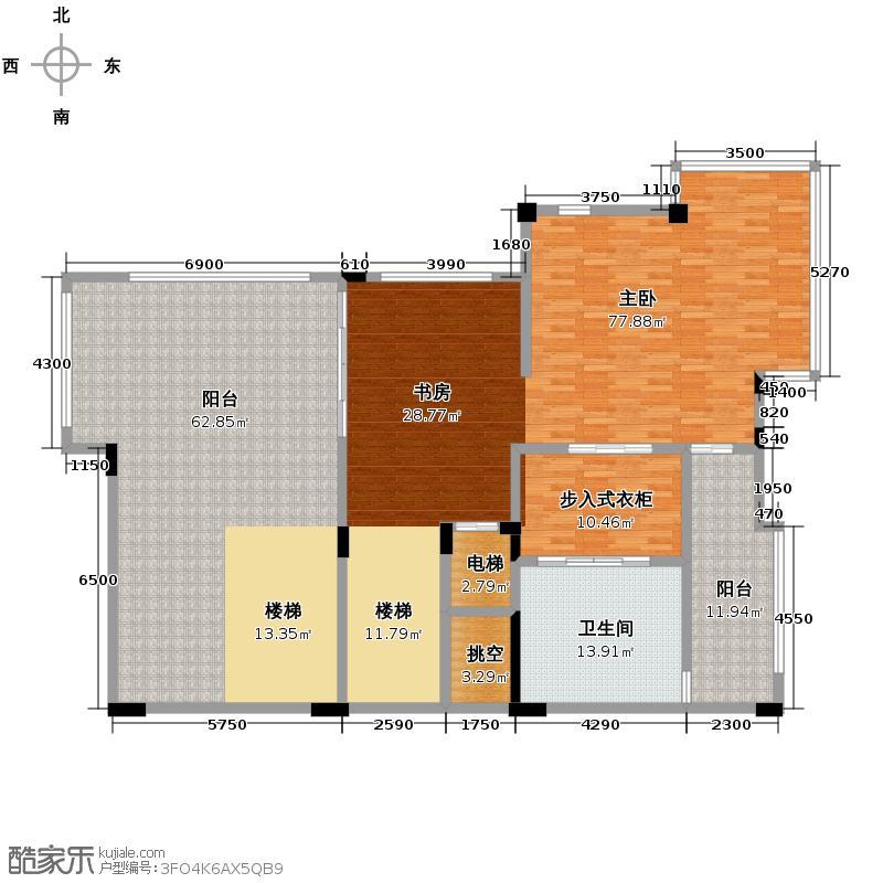 雅居乐小院流溪113.00㎡F型双拼别墅三层户型10室