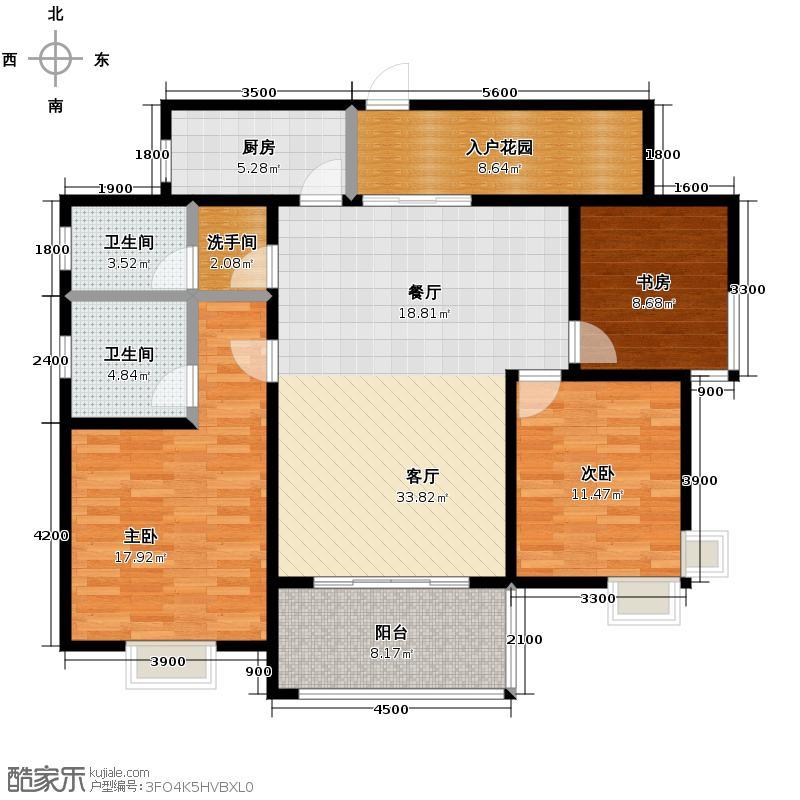 新兴北京御园117.72㎡J-户型10室