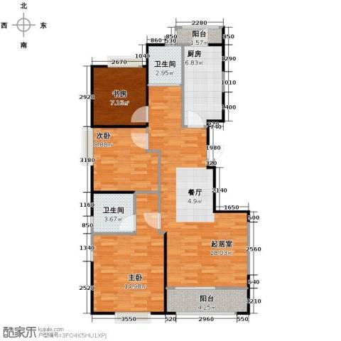 西港国际花园3室0厅2卫1厨106.00㎡户型图