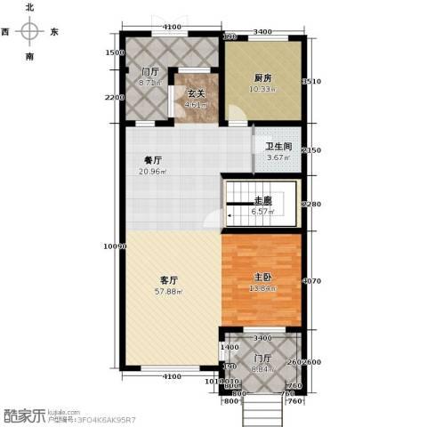万通龙山逸墅1室2厅1卫0厨122.00㎡户型图