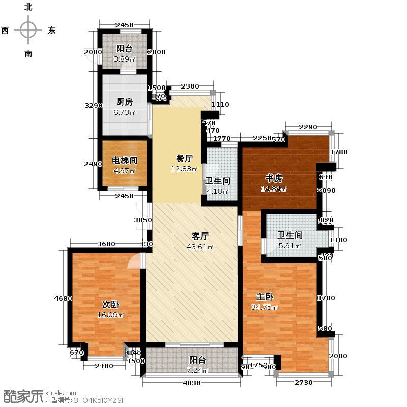 海河大道宽景公寓144.39㎡15号楼1门金角户型10室