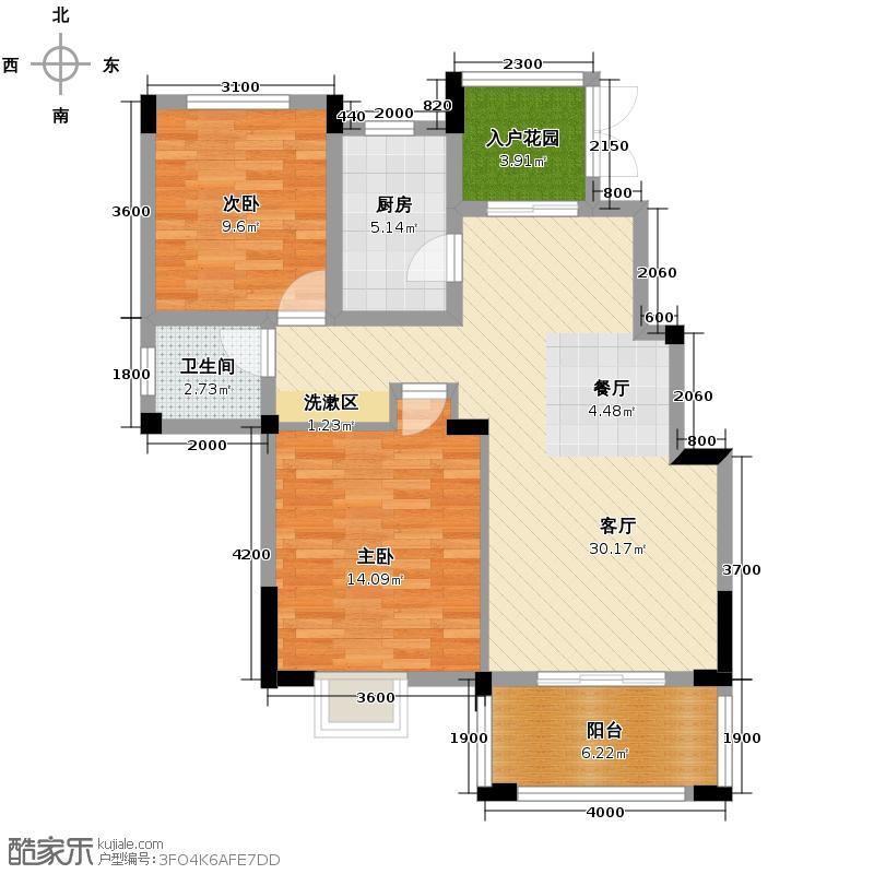 大华南湖公园世家88.00㎡2A-3售完户型10室