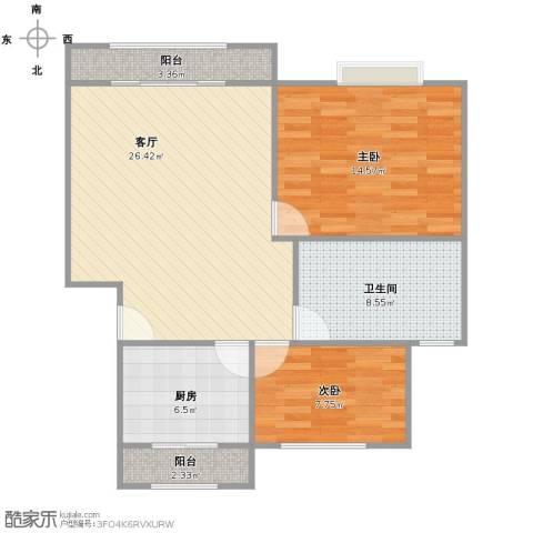 金隆家园2室1厅1卫1厨94.00㎡户型图