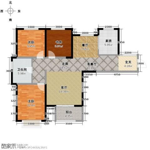 中建滨海壹号3室2厅1卫0厨126.00㎡户型图