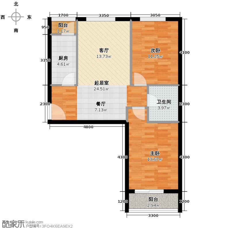 旗胜家园90.00㎡D20-5#D26-2#5#C户型10室