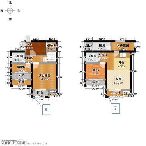融创伊顿濠庭2室0厅2卫1厨110.00㎡户型图