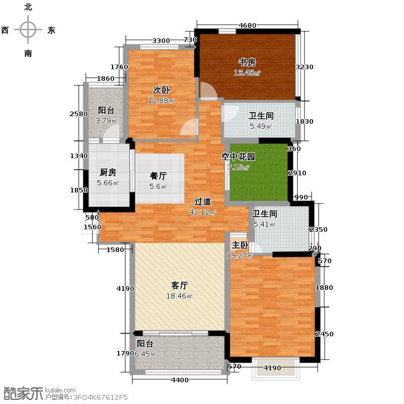 大华南湖公园世家156.00㎡B3/B4/B5-01户型3室2厅2卫